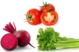 ассорти относительно полезных овощей